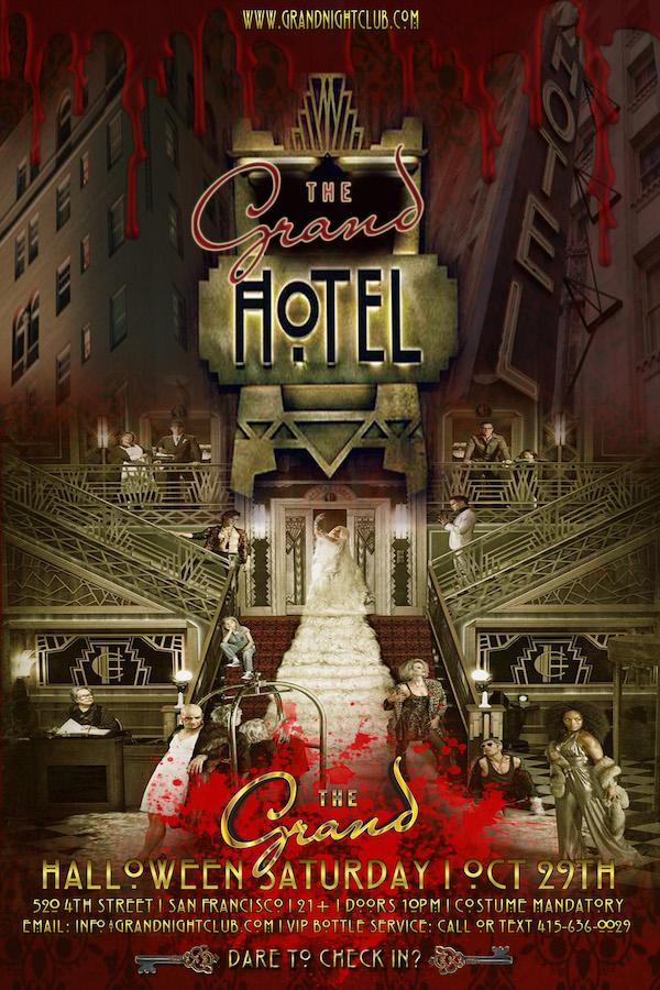 Haunted hotel halloween san francisco ca on sat oct for San francisco haunted hotel