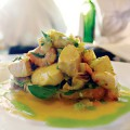 The seafood salad at Bistro Elan is a reminder of the area's culinary richness.