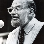 ON THE ROAD AGAIN  In 1992, Allen Ginsberg read for a capacity crowd at SJSU.