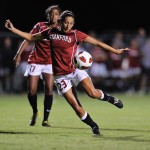 Stanford's Christen Press scored the first goal of Sunday's game against Santa Clara.