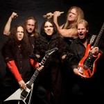 Power metal group Vicious Rumors with their weapons of choice.