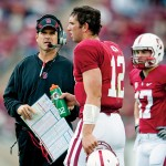 Stanford head coach Jim Harbaugh and quarterback Andrew Luck have the Cardinal headed toward a BCS bowl game.
