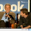 Pres. George W. Bush and Facebook CEO Zuckerberg enjoyed a friendly chat, which was streamed live.