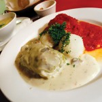 Beef stuffed cabbage rolls are one of the specialty's at Bona.