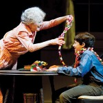 Sook (Penny Fuller) and Buddy (Gabriel Hoffman) enjoy a playful moment in 'A Christmas Memory.'