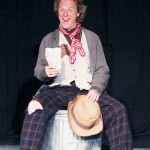 Soapy (Kurt Gravenhorst) looks for a holiday vacation from the streets in 'The Gifts of the Magi' at Tabard Theatre.