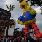 Thousands turned out to see Big Bird and the rest of San Jose's annual holiday parade despite the weather.