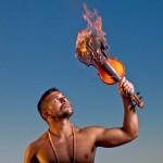 Quetzal Guerrero smokes on the violin at Pagoda Lounge on Friday. (video)