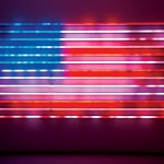 In his 2008 piece, 'Flag,' Leo Villareal uses LED tubes and specialized software to create a new vision of Old Glory.