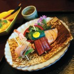The lunch special at Kaygetsu includes a variety of fish and meat specialties.