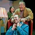 Melinda Marks, Jason Arias (center) and Matt Singer cook up a murderous plot in 'Deathtrap.'