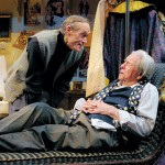 Norman (James Carpenter, left) cajoles Sir  (Ken Ruta) into one more performance in 'The Dresser.'