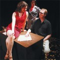 Dragon Productions' 'Private Eyes' features Kelly Rinehart (left), Sara Luna and Martin Gagen.