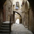 "Even this small side street in Jerusalem, called ""Shonei Halachot,"" can now be found using Google Street View."