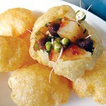 Chaat, like the pani puri pictured here, is where it's at.