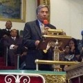 Mohammad Qayoumi has been named the next President of San Jose State University. Here he is seen speaking at the Greater Saint John Missionary Baptist Church.