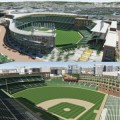The city and its perhaps-doomed redevelopment agency have locked up $25 million worth of real estate in the hopes of attracting Major League Baseball to San Jose. Here are two graphics of the proposed ballpark.