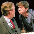 Sean Gilvary (right) tries to stare down Steve Lambert  in 'Equus.'