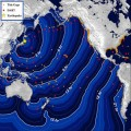 NOAA released this map with tsunami travel times.
