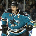 Joe Thornton has played tougher this season, which could finally pay dividends for the Sharks in the playoffs. (Photo by Felipe Buitrago)