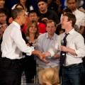 Pres. Barack Obama friended Mark Zuckerberg in Palo Alto yesterday. Jamie Soja photo.