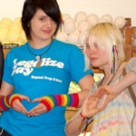 Two LUSH customers show their support for the right for same-sex couples to marry.