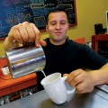 Leo Salto prepares a morning cup of coffee