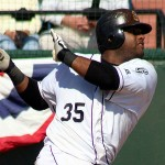 Pablo Sandoval will be in the lineup for the San Jose Giants Friday and Saturday as he works his way back into shape after breaking his hand. (Photo by Chris Talley)