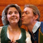 Justin Karr's Truffaldino has eyes for Corinne Bupp's Smeraldina in CTC's production of 'The Servant of Two Masters.'