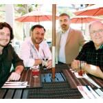 From left, the Myth group includes David ramsay, Ray Shafarazand, Tony Pagkas and Bill Gates.
