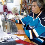 Sharks fan and social justice activist Gloria Nieto wants her team to stand up for picked-on gay and lesbian teens.
