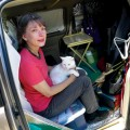 Winifred Thomas and her cat, Toby, began experiencing mysterious ailments soon after a PG&E SmartMeter was installed on their home. (Photo by Felipe Buitrago)