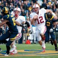 Stanford quarterback Andrew Luck skates through the opposition with the poise of a pro, which he could have been if he decided