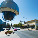A 24-hour surveillance camera installed in downtown Gilroy seems to have done little to prevent crime in its first two months, but it has given business owners peace of mind. (Photo by Felipe Buitrago)