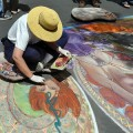 Local artist Cheryl Renshaw will be one of several madonnari beautifying the sidewalks at Backesto Park for the Luna Park Chalk Art Festival on Sept. 24. (video)