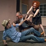 Jarrod Pirtle, Matt Singer and Marjorie Hazeltine in Northside Theatre Company's production of 'Fool for Love.'