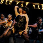 The performers at the Kit Kat Klub (from left, Clarissa Chun, Chellana Dinsmore, Halsey Varady, Carmichael 'CJ' Blankenship, Allison F. Rich and Christine Capsuto) tease their audience with troubling political undertones in 'Cabaret.' (video)