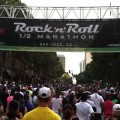 Runners cross the starting line at the 6th annual San Jose Rock 'n' Roll Half Marathon. (video)
