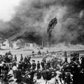 San Jose's Chinatowns were sometimes the scene of devastating fires. (Photo courtesy of History San Jose.)