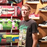 Bob Schmelzer is the longtime owner of Circle A skateboards, the only skate shop in downtown San Jose. (Photo by Justin Albert)