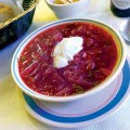 The borscht at Russian Cafe and Deli in Campbell features good ingredients and a dab of sour cream.