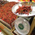 MY PEOPLE  Offerings at Mi Pueblo range from a selection of chili peppers to tamarind candies and rooster claws.