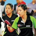 Lily Zhang, left, and Ariel Hsing are expected to represent the U.S. in next summer's Olympics in London.
