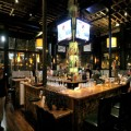 The bar at Billy Berk's takes center stage.