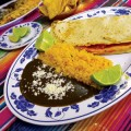 The empanada de amarillo con pollo at Monte Alban transports diners to Oaxaca.