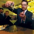 Jeff Bareilles, Manresa's beverage director, serves one of the restaurant's signature cocktails.