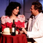 DATE NIGHT  Izzy (Becky Wallace) wants to move into the literary circle of author Tyler (Toby Cordone) in 'Crossing Delancey.' Photograph by Lawrence Whitcomb.