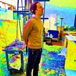Living the Technicolor dream, Ben Alexy at his downtown San Jose studio.