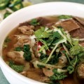 The traditional pho at Pho Saigon Pasteur offers a taste of Vietnam.