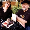 PASTRY PAIR: Betttina and Mark Pope take a break at their bakery, La Lune Sucree.